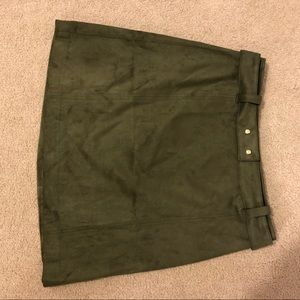 H&M Suede Army Green Skirt